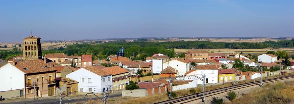 Vista de Sahagún desde La Neverica
